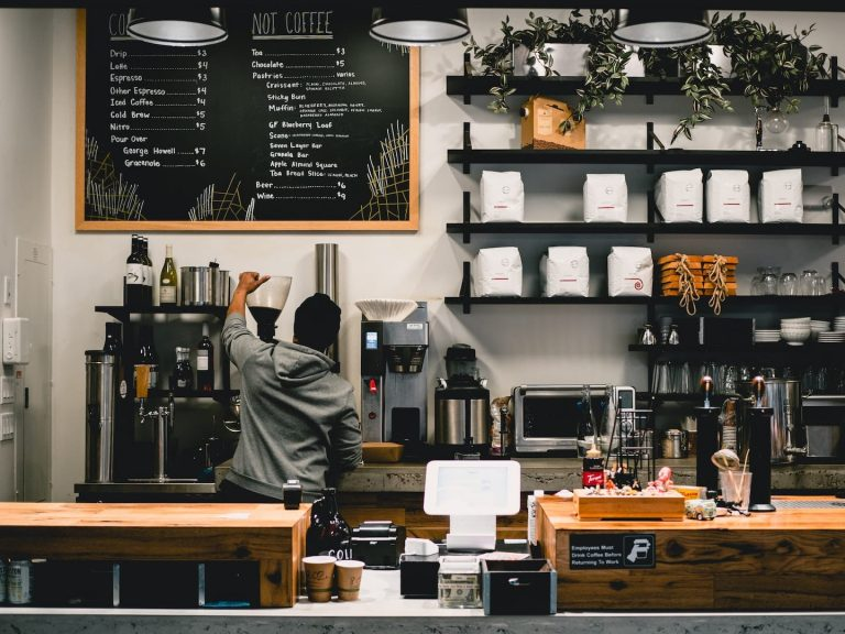 Barista with Coffee Shop